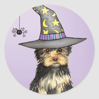 Yorkshire Terrier Witch Stickers