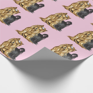 yorkshire terrier wrapping paper