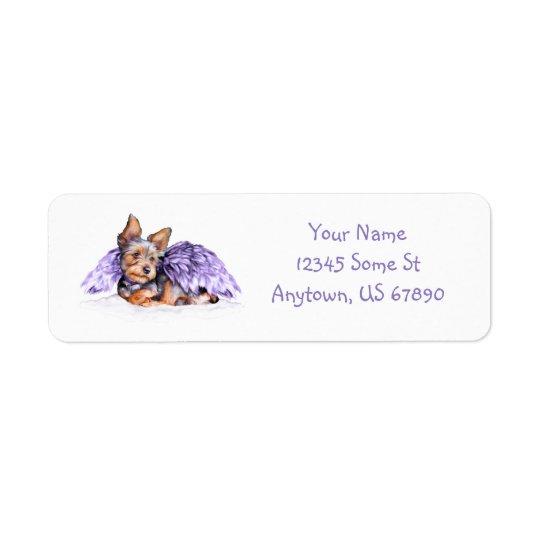 Yorkshire Terrier Yorkie Angel Return Address Label