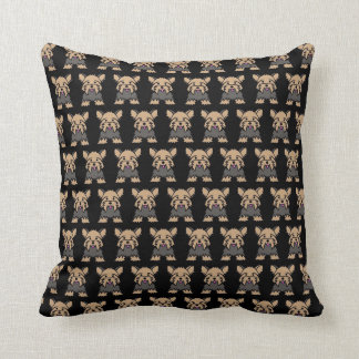 Yorkshire Terrier / Yorkie Dog Cushion - Black