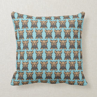 Yorkshire Terrier / Yorkie Dog Cushion - Blue