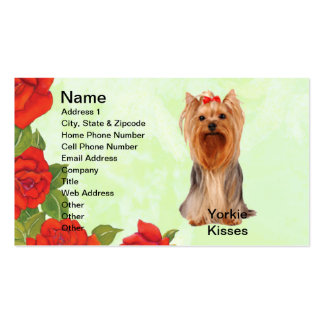 Yorkshire Terrier - Yorkie Kisses Business Cards