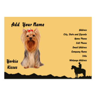 Yorkshire Terrier - Yorkie Kisses Pack Of Chubby Business Cards