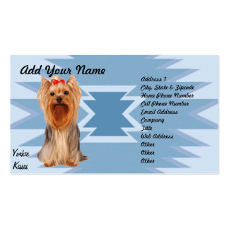 Yorkshire Terrier - Yorkie Kisses Pack Of Standard Business Cards