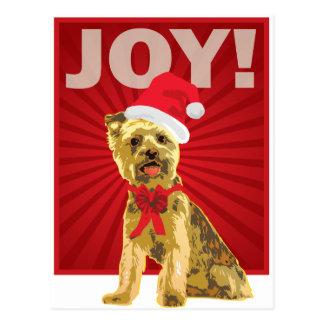 Yorkshire Terrier - Yorkie Santa Clause Postcard