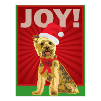 Yorkshire Terrier - Yorkie Santa Clause Postcard