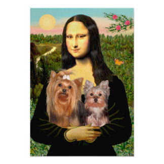 Yorkshire Terriers (7and19) - Mona Lisa Poster
