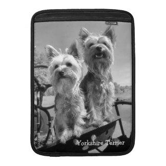 Yorkshire Terriers, B & W, MacBook Air Sleeve
