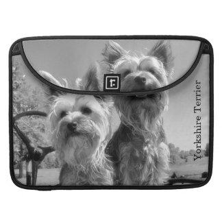 Yorkshire Terriers, B & W, MacBook Pro Sleeve
