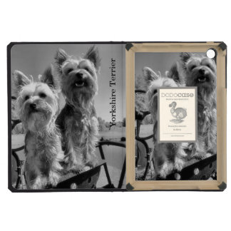 Yorkshire Terriers Black and White iPad Mini Cover