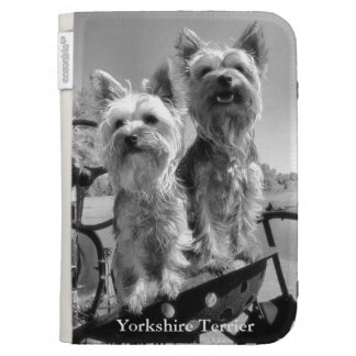 Yorkshire Terriers, Black & White, Kindle 3 Cover