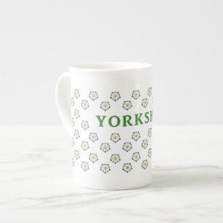Yorkshire White Roses China Mug