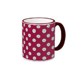 Yorkshire White Roses - Red Background Mug