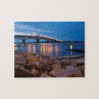 Yorktown Beach at Twilight Puzzle