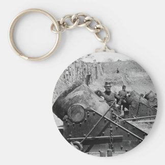 Yorktown Mortar Battery, 1860s Basic Round Button Key Ring