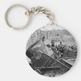 Yorktown Mortar Battery, 1860s Basic Round Button Key Ring