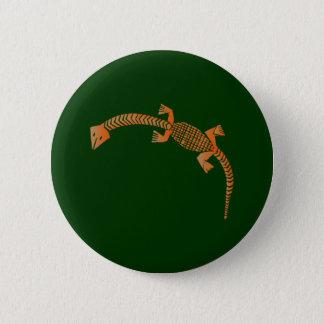 Yoruba lizard lizard 6 cm round badge