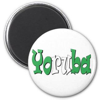 Yoruba (Nigerian Flag) 6 Cm Round Magnet