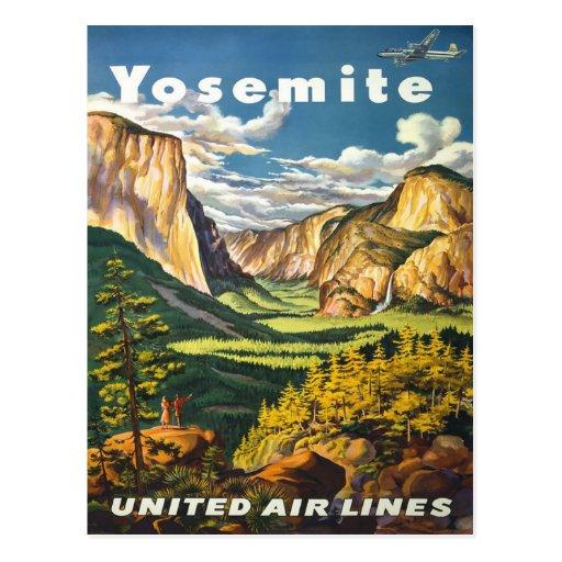 Yosemite American Vintage Travel Posters Post Cards