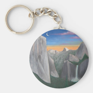 Yosemite Basic Round Button Key Ring