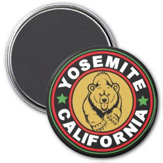 Yosemite Black Circle 7.5 Cm Round Magnet