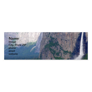 Yosemite Bridal Veil Fall Double-Sided Mini Business Cards (Pack Of 20)