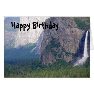 Yosemite Bridal Veil Fall Greeting Card
