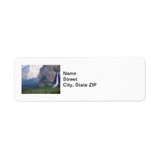 Yosemite Bridal Veil Fall Return Address Label