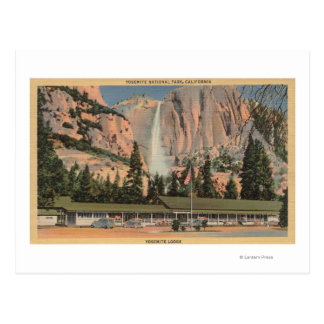 Yosemite, CA view of Yosemite Lodge and Falls Postcard