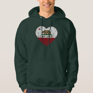 Yosemite California Republic Heart Distressed Hoodie