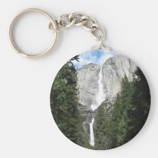 Yosemite Falls Basic Round Button Key Ring