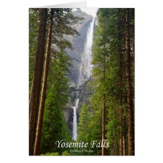 Yosemite Falls California Products Greeting Cards