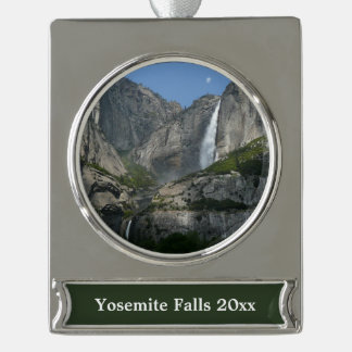 Yosemite Falls III from Yosemite National Park Silver Plated Banner Ornament