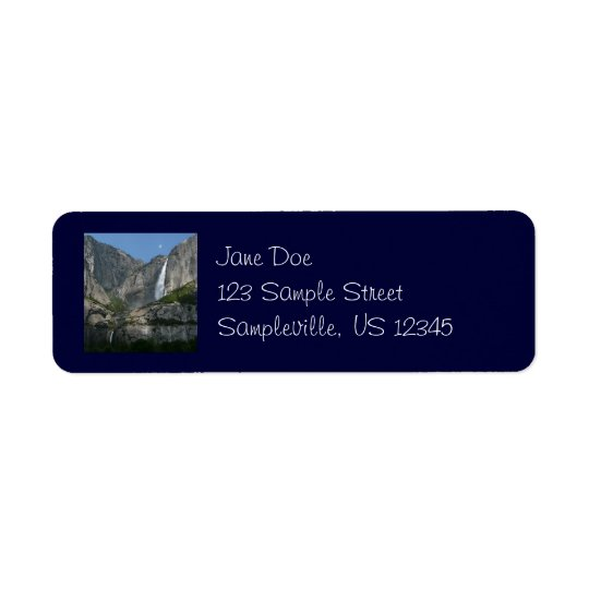 Yosemite Falls Return Address Label