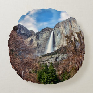 Yosemite Falls Round Cushion