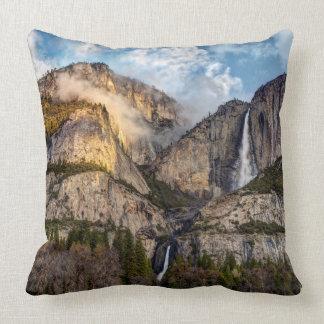 Yosemite Falls scenic, California Throw Pillow