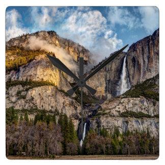 Yosemite Falls scenic, California Wall Clocks