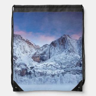 Yosemite Falls Sunrise Drawstring Bag