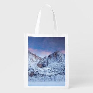 Yosemite Falls Sunrise Reusable Grocery Bag