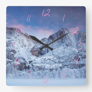 Yosemite Falls Sunrise Square Wall Clock