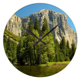 Yosemite From Valley Floor, Sierra-Nevada Large Clock