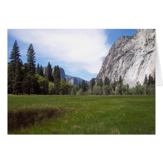 Yosemite in Springtime:  Meadow View Card