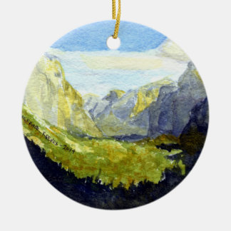 Yosemite, Inspiration Point Christmas Ornament