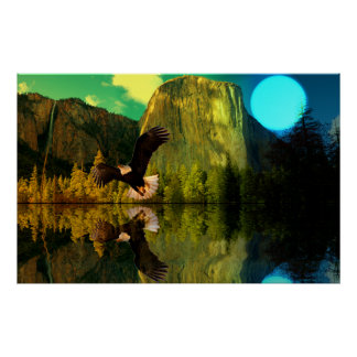 Yosemite-Moon-Eagle-set-1 Poster
