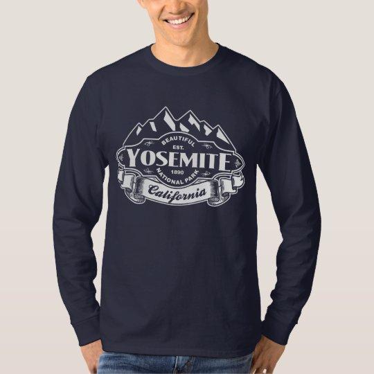 Yosemite Mountain Emblem White T-Shirt