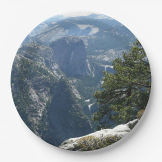 Yosemite Mountain View in Yosemite National Park 9 Inch Paper Plate