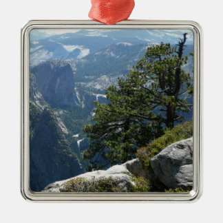 Yosemite Mountain View in Yosemite National Park Silver-Colored Square Decoration