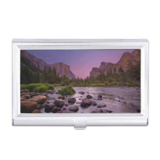 Yosemite National Park at Dusk Business Card Holder