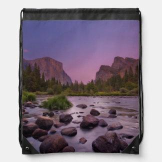 Yosemite National Park at Dusk Drawstring Bag