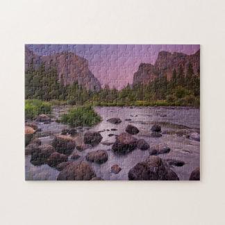 Yosemite National Park at Dusk Jigsaw Puzzle